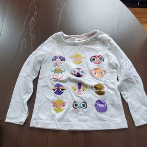 Fendi Monster Girl's Long Sleeve Tshirt